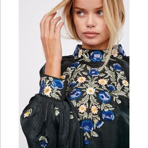 """Free People """"Jessica"""" embroidered blouse"""